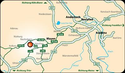 Reiterpension Karduck - Anfahrt von Fern
